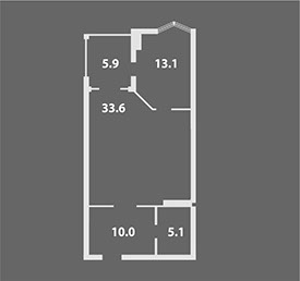 Альт-Платц I Двухкомнатная квартира