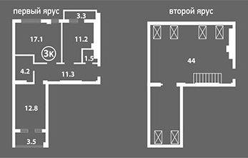 Венский Квартал двухярусная квартира 3