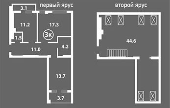 Венский Квартал двухярусная квартира