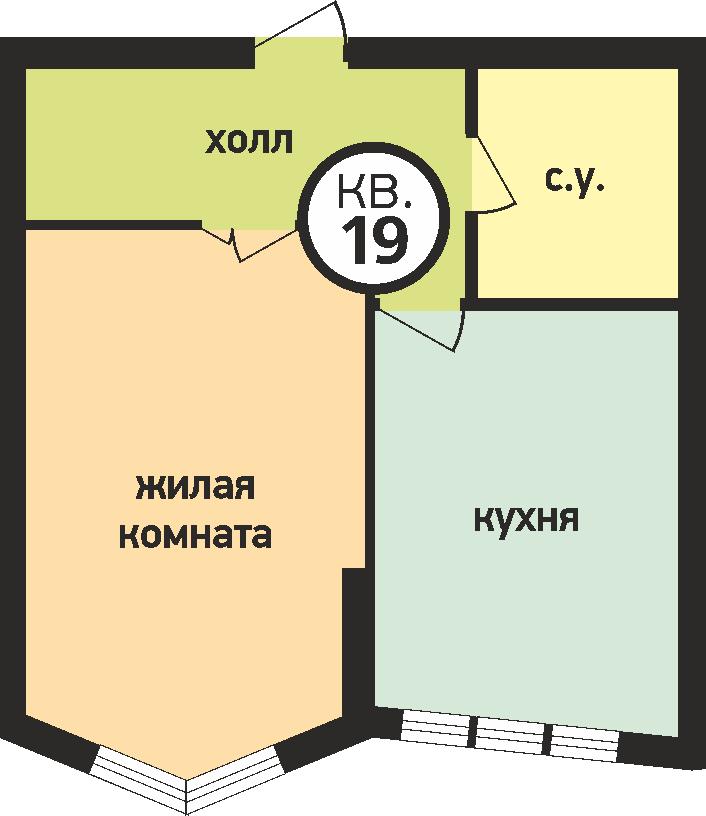 У ручья 1 комнатная 2