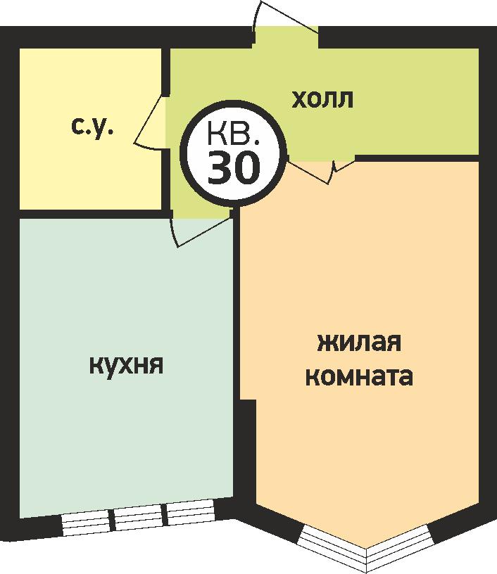 У ручья 1 комнатная