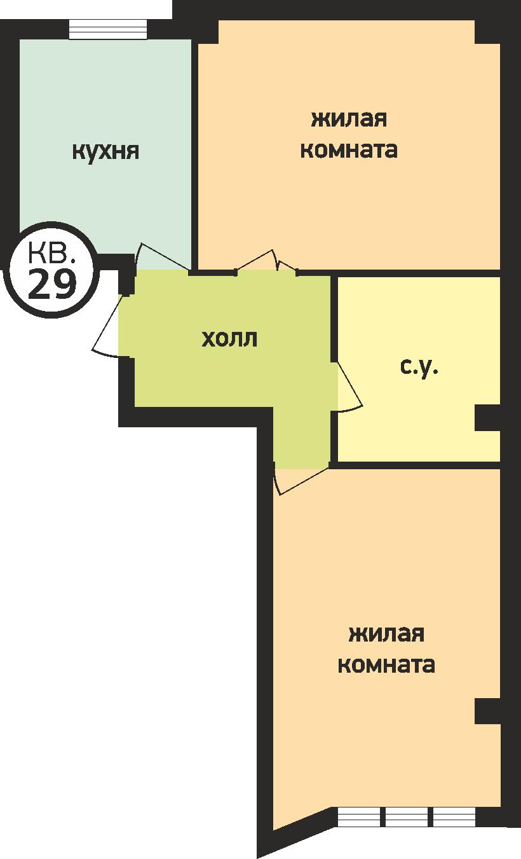 У ручья 2 комнатная 2
