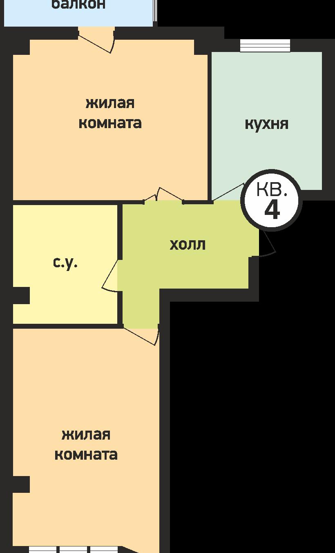 У ручья 2 комнатная